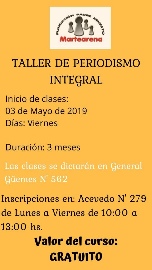 Photo of Gratuito!!!!!! talleres de Periodismo, inscribite!!!!!!!
