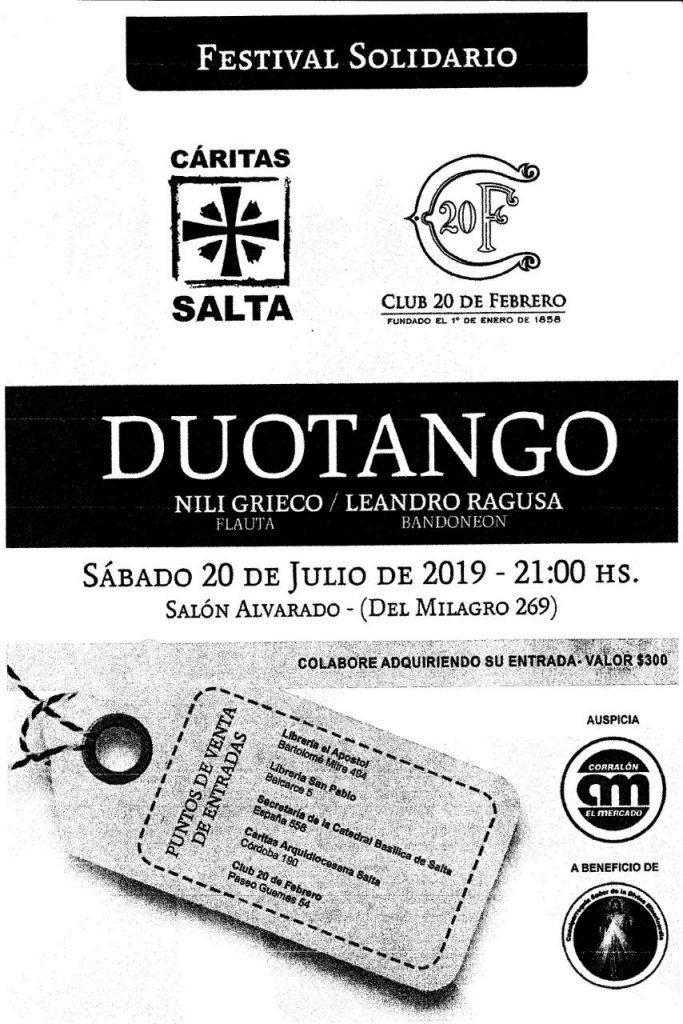Photo of Cáritas Salta y Club 20 de Febrero te invitan…