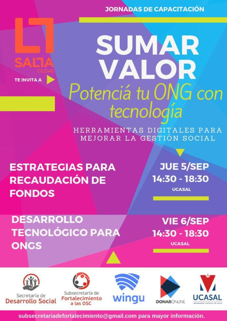 Photo of *Potencía tu ONG con tecnología*Gestión Gustavo Saenz