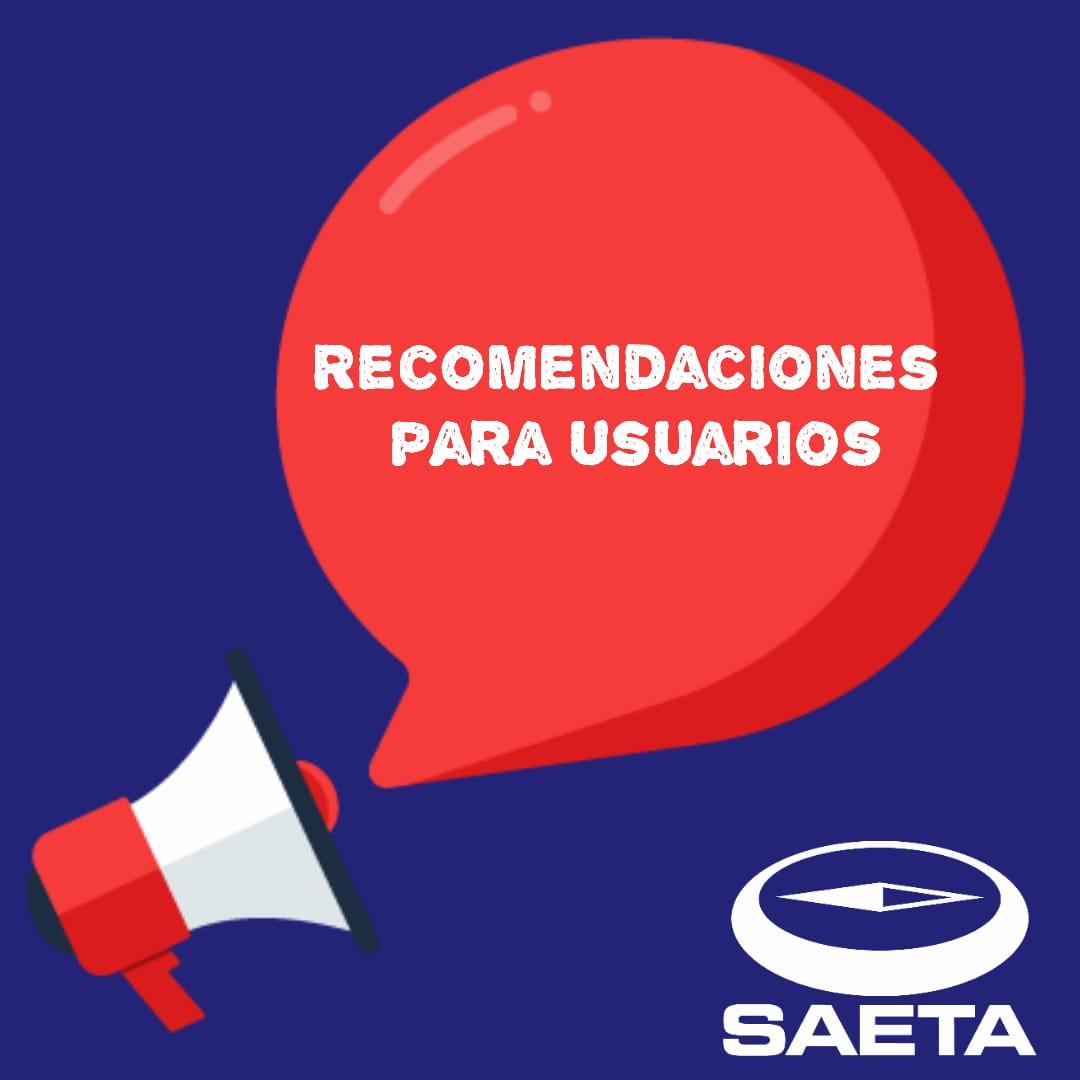 Photo of SAETA. Modifica servicios.