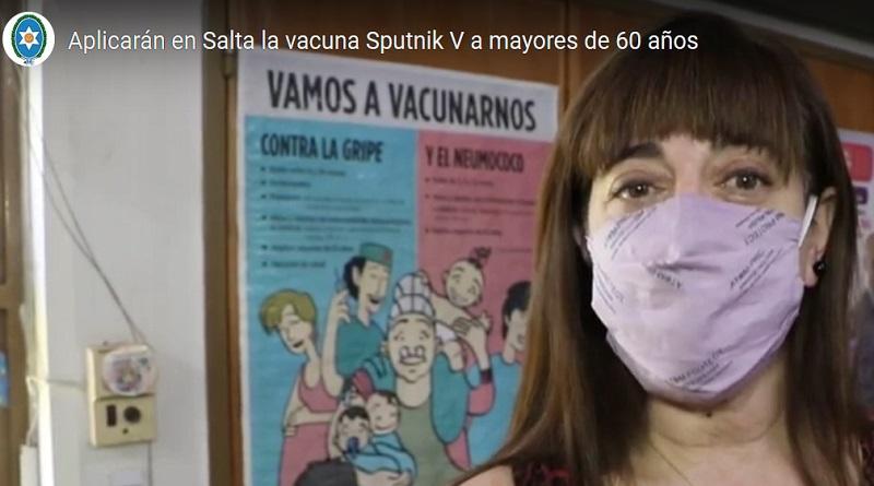Salta. La vacuna Sputnik será aplicada a los mayores de 60 años.
