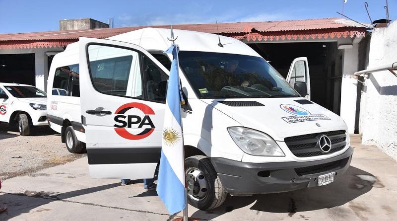 Desarrollo Social y Parque Automotor celebraron la incorporación de un vehículo al servicio del Hogar Casa Cuna.